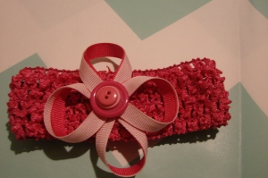 Baby headband with bow